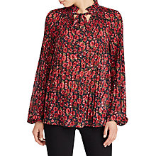Buy Lauren Ralph Lauren Duong Shirt, Navy/Red Online at johnlewis.com