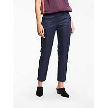 Buy Max Studio Stretch Sateen Trousers, Dark Navy Online at johnlewis.com