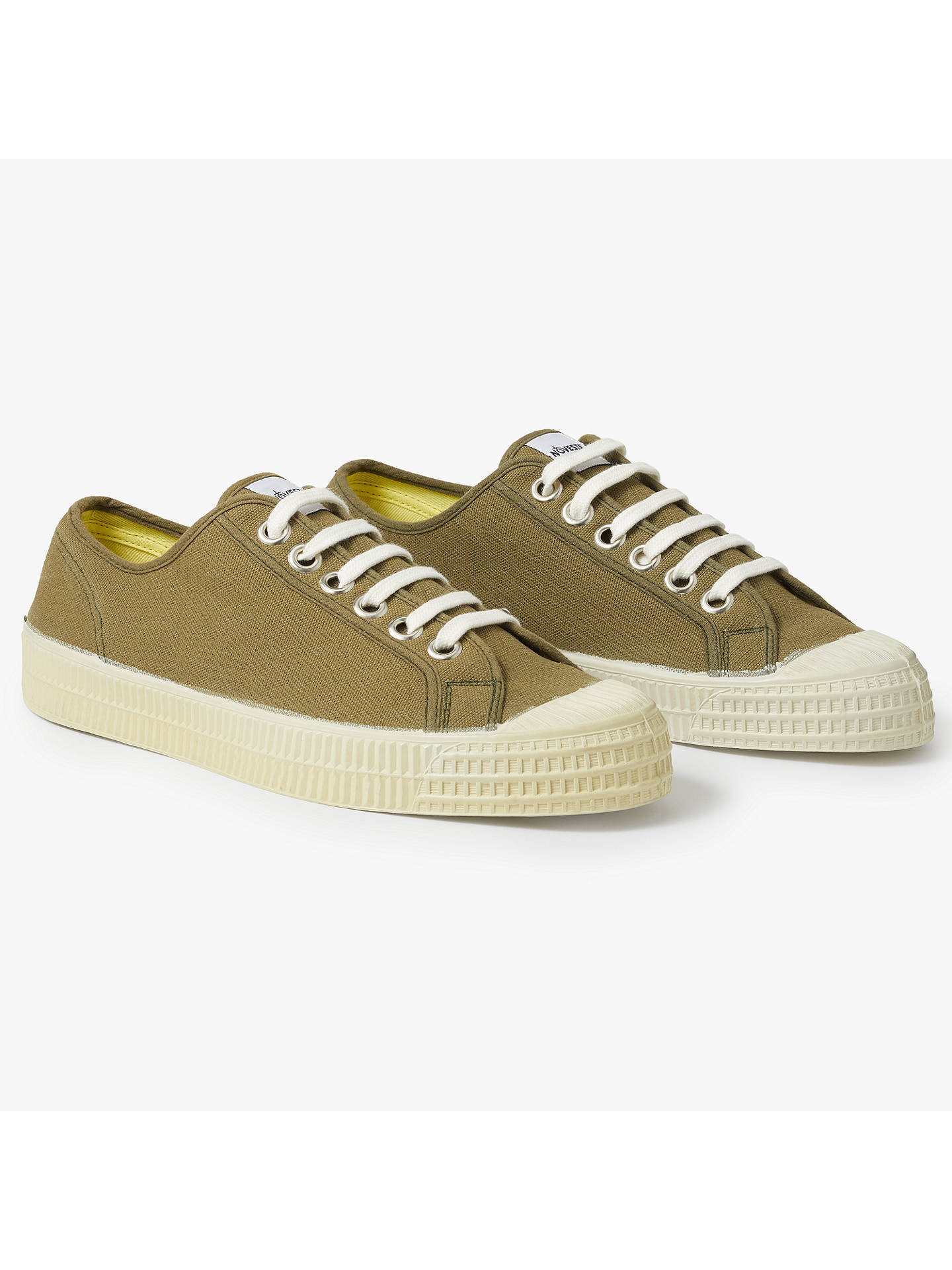 BuyNovesta Star Master Canvas Trainers, Khaki, 7 Online at johnlewis.com