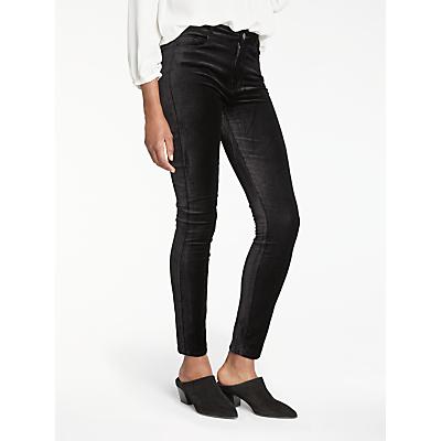 Paige Hoxton High Rise Skinny Velvet Jeans, Black