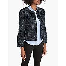 Buy Helene For Denim Wardrobe Zoey Trumpet Sleeve Jacket, Blue/Navy Online at johnlewis.com