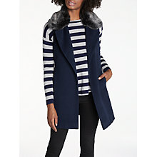 Buy Helene For Denim Wardrobe Luna Faux Fur Collar Gilet Online at johnlewis.com