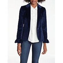 Buy Helene For Denim Wardrobe Maya Velvet Blazer, Navy Online at johnlewis.com