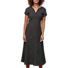 Buy East Ikat Bias Cut Dress, Black Online at johnlewis.com
