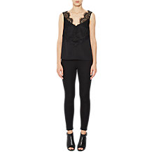 Buy French Connection Street Twill Skinny Trousers, Black Online at johnlewis.com