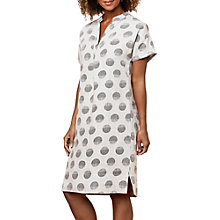 Buy East Linen Organic Spot Shift Dress, Stone Online at johnlewis.com
