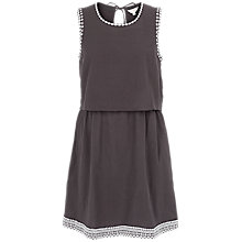 Buy Fat Face Jemima Cotton Embroidered Layered Dress, Phantom Online at johnlewis.com