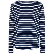 Buy Fat Face Breton Stripe Long Sleeve T-Shirt Online at johnlewis.com