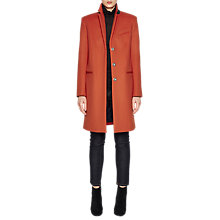 Buy French Connection Platform Felt Smart Fit Coat, Copper Coin Online at johnlewis.com