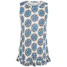 Buy Fat Face Star Mosaic Tank Top, Blue/Multi Online at johnlewis.com