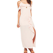 Buy Miss Selfridge Petite Ruffle Maxi Dress, Pink Online at johnlewis.com
