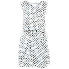 Buy Fat Face Jemima Flora Tile Layered Dress, Ivory Online at johnlewis.com