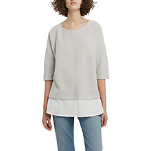 Buy French Connection Dixie Texture Top, Light Grey/Winter White Online at johnlewis.com