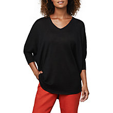 Buy East V-Neckline Linen Tunic, Black Online at johnlewis.com