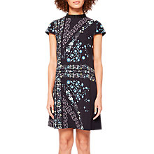 Buy Ted Baker Abbew Unity Flag Print Tunic Dress, Black Online at johnlewis.com
