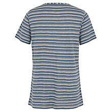 Buy Fat Face Erin Stripe T-shirt, Chambray Online at johnlewis.com