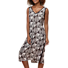 Buy East Pyramid Split Tunic, Black Online at johnlewis.com