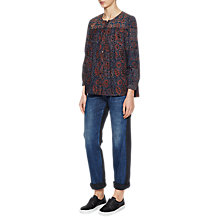 Buy French Connection Marietta Smock Top, Dark Pewter/Multi Online at johnlewis.com
