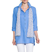 Buy East Oversized Linen Shirt, Cornflower Online at johnlewis.com