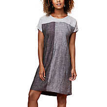 Buy East Linen X Dye Dress, Grey Online at johnlewis.com