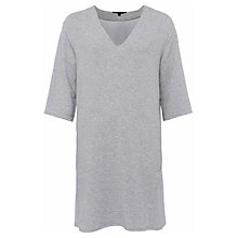 Buy French Connection Sudan Luella Jersey V-Neck Dress, Light Grey Mel Online at johnlewis.com