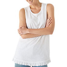 Buy Fat Face Jade Ruffle Hem Vest, White Online at johnlewis.com