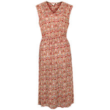 Buy Fat Face Kate Indian Summer Midi Dress, Rustic Red/Multi Online at johnlewis.com