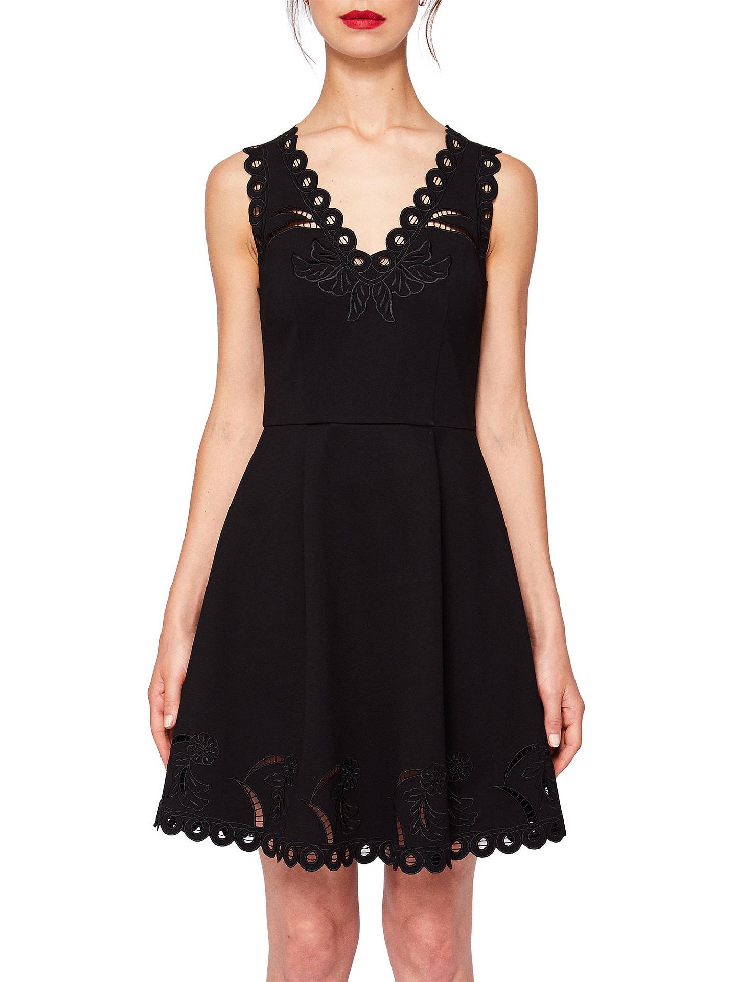 17cf2beb59 Buy Ted Baker Emalise V-Neck Embroidered Skater Dress