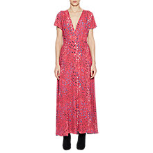 Buy French Connection Frances Drape V-Neck Maxi Dress, Watermelon Multi Online at johnlewis.com