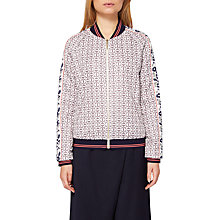Buy Ted Baker Colour By Numbers Xaria Geo Floral Print Bomber Jacket, Grey Online at johnlewis.com