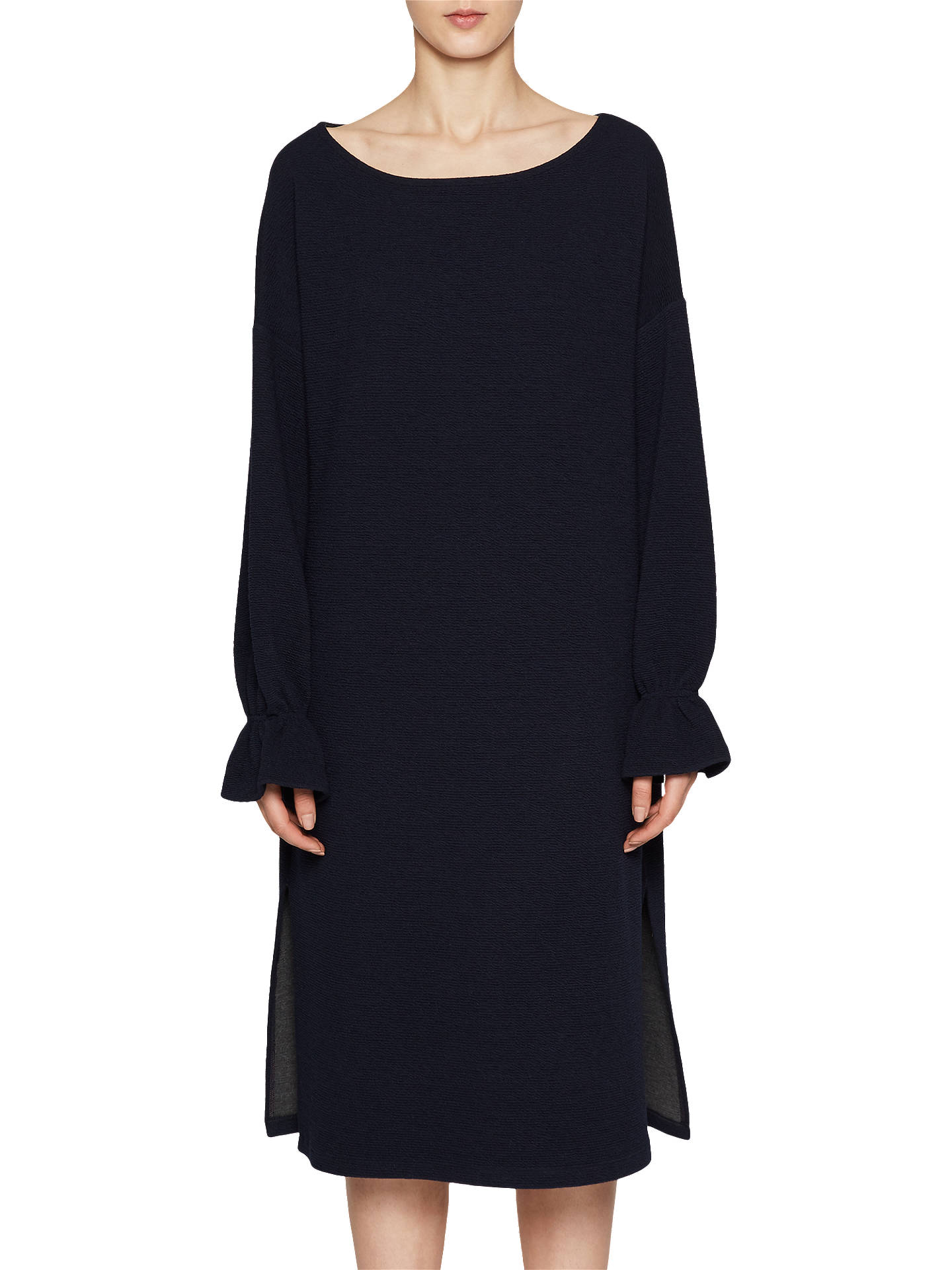 ae2b4ebf84c Buy French Connection Ellen Textured Long Sleeve Dress, Utility Blue, XS  Online at johnlewis ...