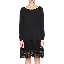 Buy French Connection Melba Knit Jumper Dress, Dark Grey Mel/Black Online at johnlewis.com
