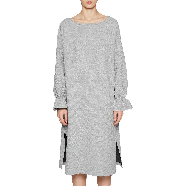 French Connection Ellen Texture Dress Grey Mel at John Lewis