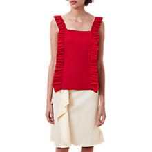 Buy Finery Crescent Ruffle Cami Top, Red Online at johnlewis.com
