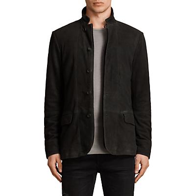 AllSaints Seymour Leather Blazer, Black