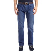 Buy BOSS Green Maine Jeans, Medium Blue Online at johnlewis.com