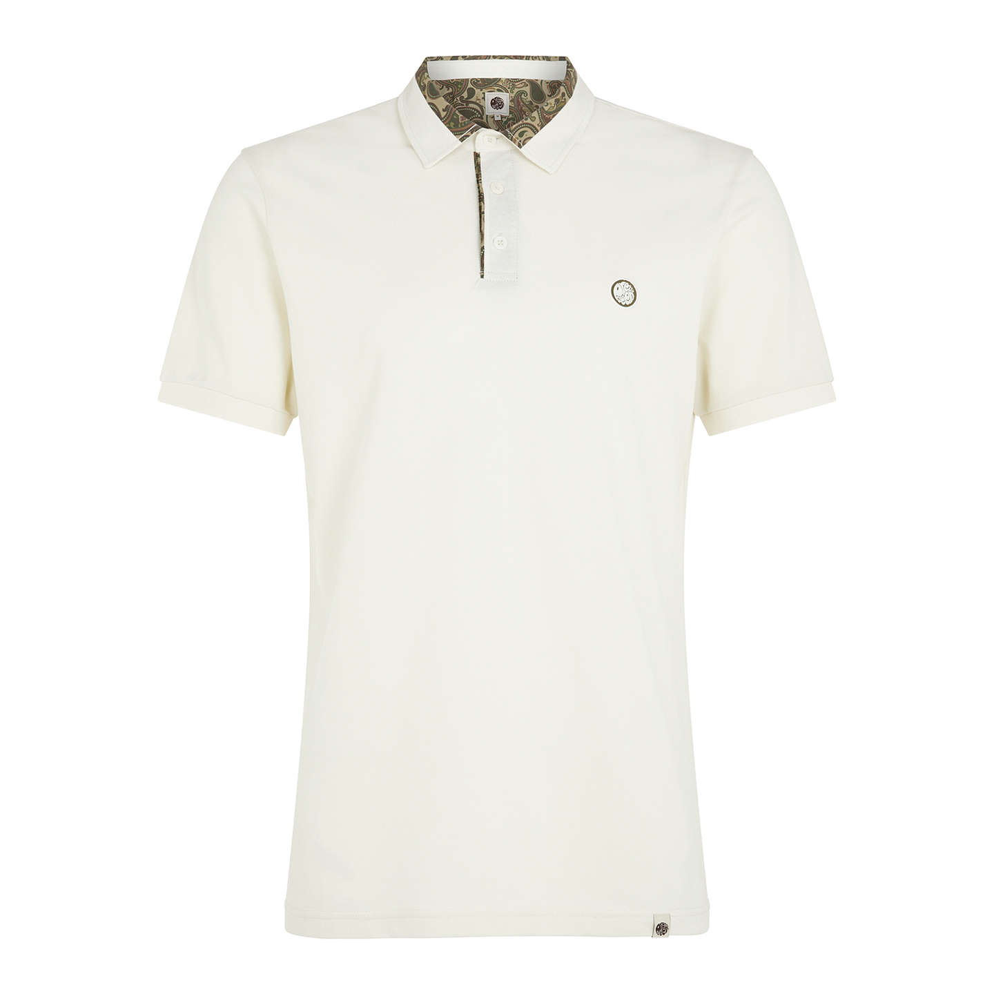 BuyPretty Green Ryder Polo, Stone, S Online at johnlewis.com