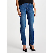Buy Lee Marion Regular Straight Leg Jeans, Mid Blue Worn Online at johnlewis.com