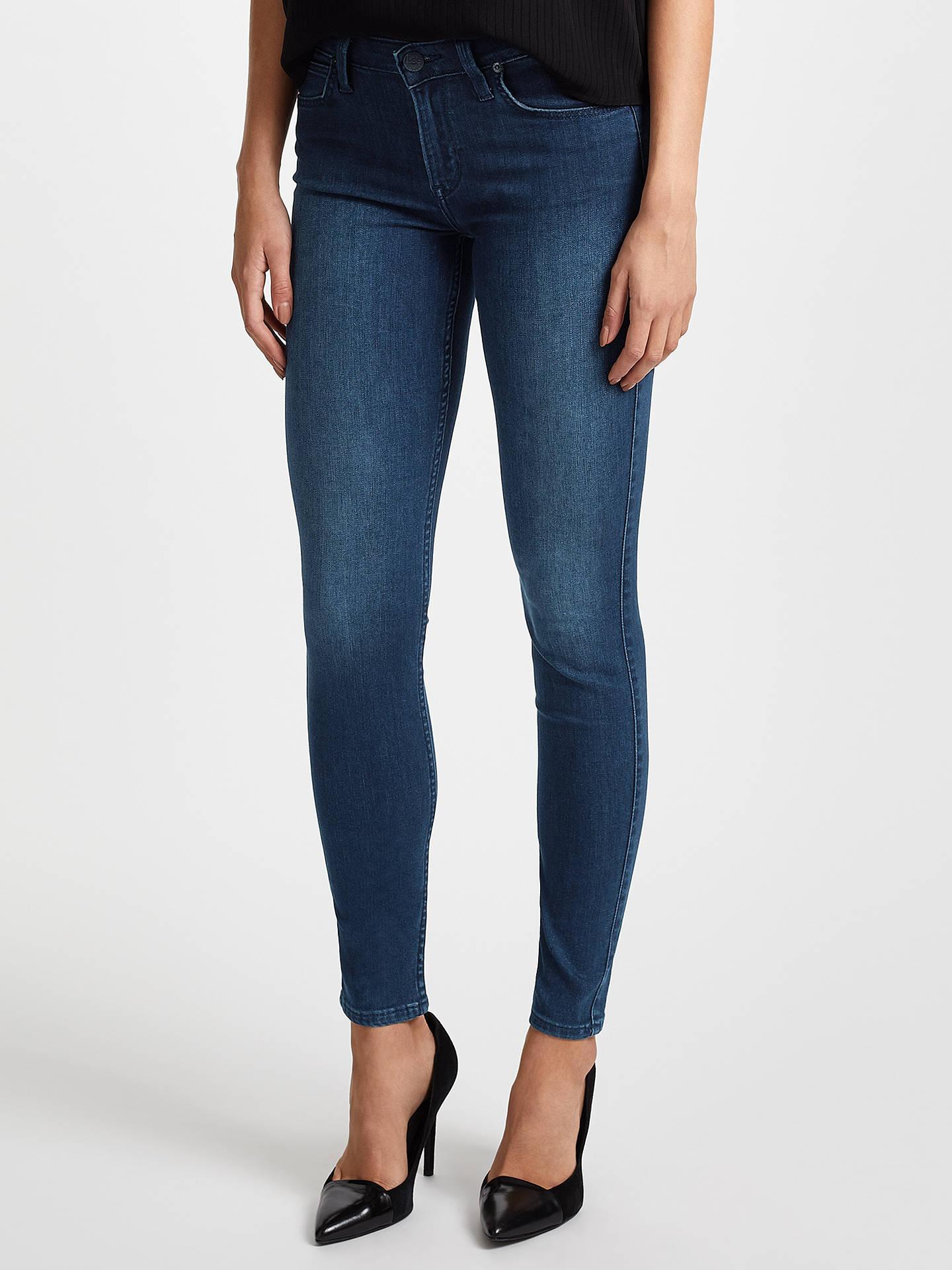 97f20805 Buy Lee Scarlett Regular Waist Skinny Jeans, Dark Used Blue, W27/L33 Online  ...