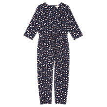 Buy Jigsaw Girls' Acorn Print Jumpsuit, Navy Online at johnlewis.com
