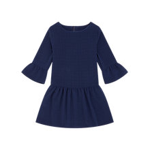 Buy Jigsaw Girls' Textured Drop Waist Dress, Navy Online at johnlewis.com