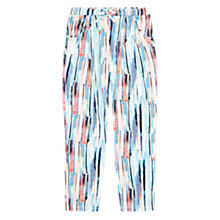 Buy Jigsaw Girls' Bark Print Jersey Trousers, Blue/Multi Online at johnlewis.com