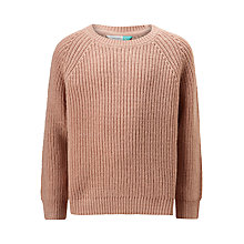 Buy John Lewis Girls' Lurex Knit Jumper, Pink Online at johnlewis.com