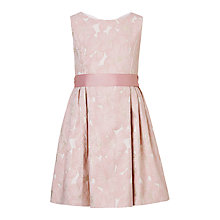 Buy John Lewis Girls' Jacquard Dress, Pink Online at johnlewis.com