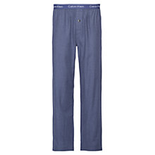 Buy Calvin Klein Flannel Placid Heather Lounge Pants, Blue Online at johnlewis.com