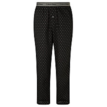 Buy Calvin Klein Shadow Dot Pyjama Bottoms, Black Online at johnlewis.com
