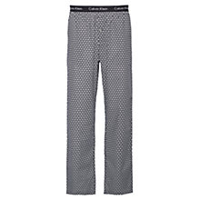 Buy Calvin Klein Triangle Wedge Print Lounge Pants, Black Online at johnlewis.com