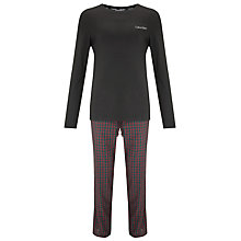 Buy Calvin Klein Holiday Pyjama Set, Black/Red Online at johnlewis.com