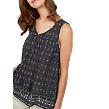 Buy Fat Face Lottie Rustic Aztec Camisole, Dark Grey/Ivory Online at johnlewis.com
