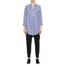 Buy French Connection Sophia Cotton Popover Shirt, Blue Stripe Online at johnlewis.com
